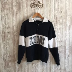 Brandy Melville Georgetown Navy and white pullover